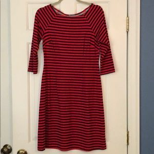 J. McLaughlin Red/Navy Boatneck Dress